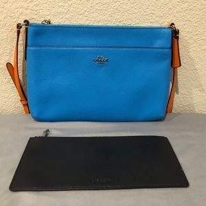COACH East/West Crossbody with Pop Out Pouch NWT